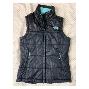 The North Face Womens Vest, black and mint